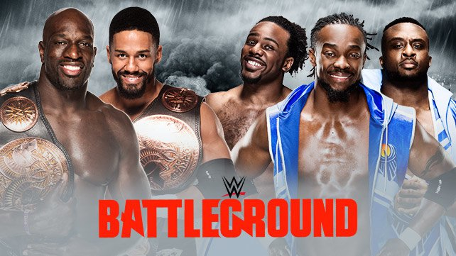 Confirmed and Potential Matches for WWE Battleground 2015 20150614_Battleground_LIGHT_matches-HP_PTPNewDay
