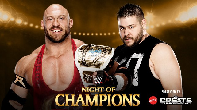 Intercontinental Champion Ryback vs. Kevin Owens at Night of Champions 2015