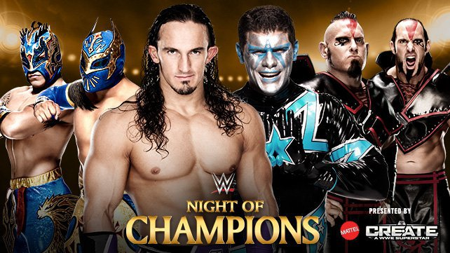 Neville & The Lucha Dragons vs. The Cosmic Wasteland on the Night of Champions Kickoff