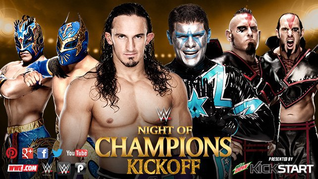 Neville & The Lucha Dragons vs. Stardust & The Ascension on the Night of Champions Kickoff