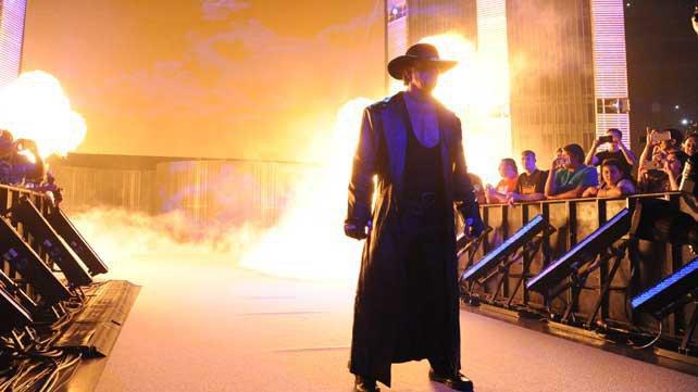 Undertaker no SmackDown em Manchester, Reino Unido terça-feira 10 de novembro