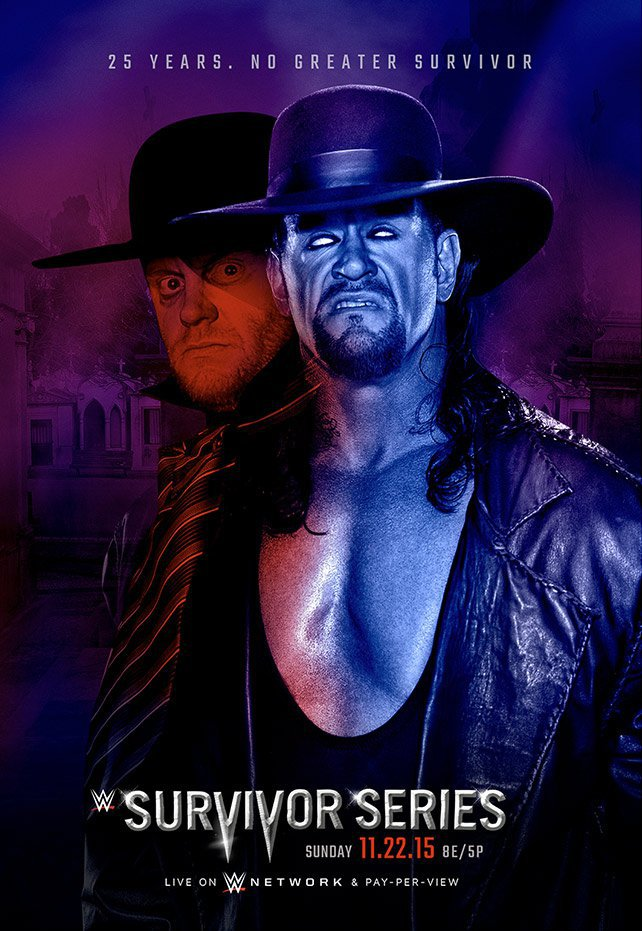 Unreleased Survivor Series 2015 Undertaker poster art